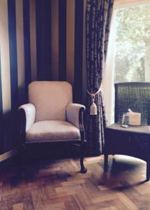 What happens when you quit smoking - comfortable and supportive chair in The Hypnotherapist's Consulting Room