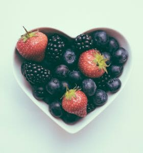What happens when you quit smoking - Heart shaped bowl of berries